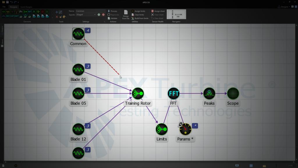 DX-Offline Signal Processing Software-Process Designer