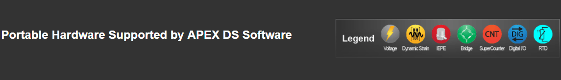 Portable-DEWE2 supported hardware-Legend