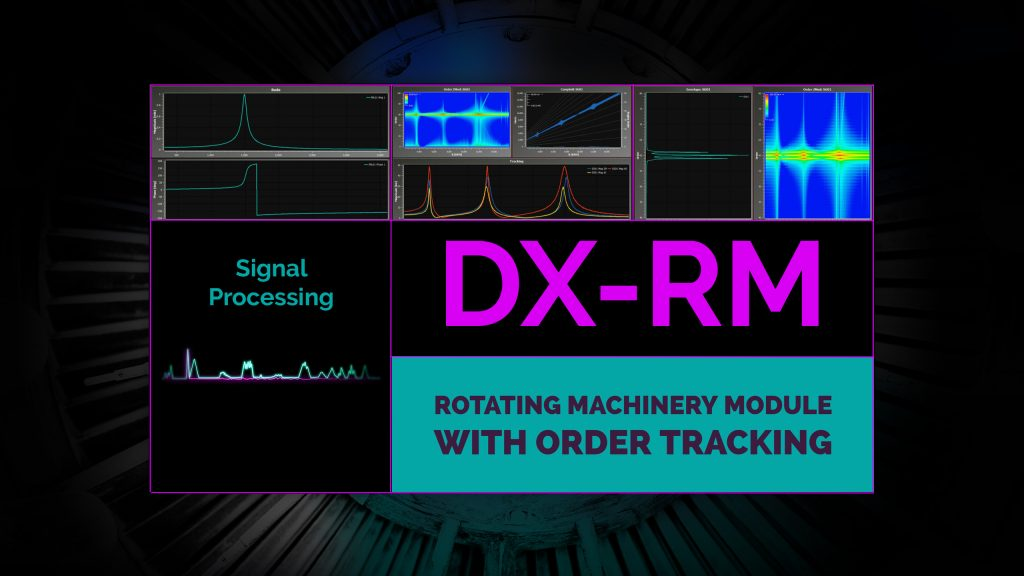 DX Offline Analysis Software- Rotating Machinery Module with Order Tracking