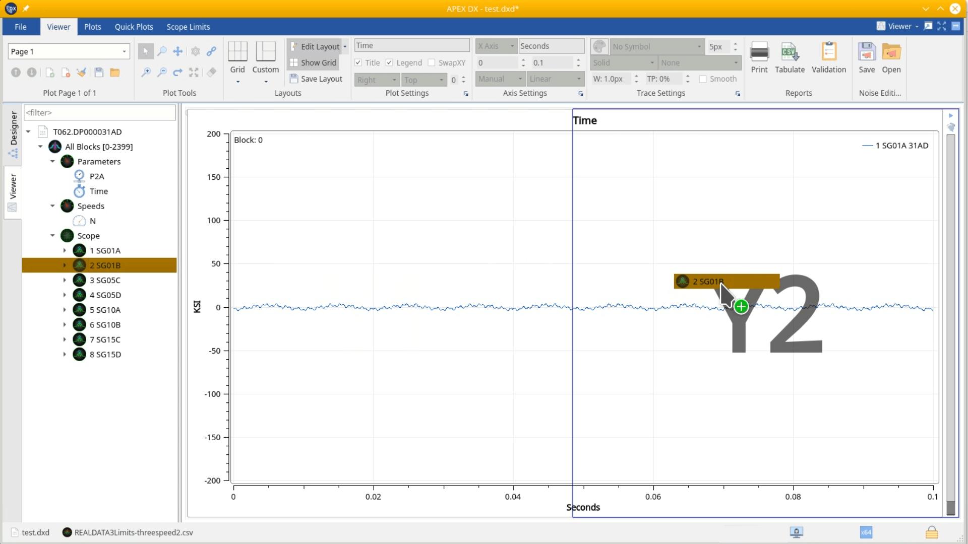 APEX DX- Secondary Y Axis (Y2
