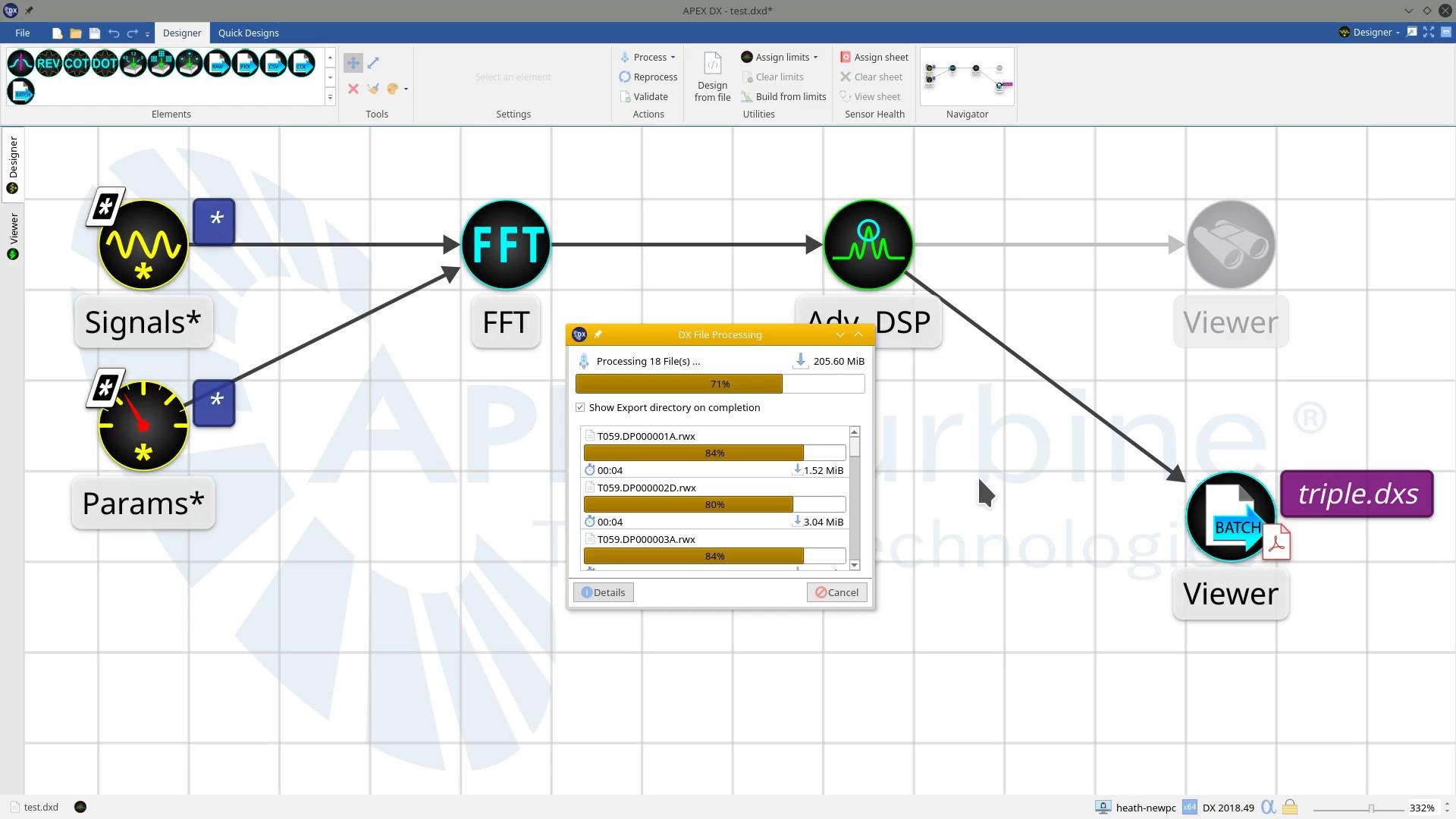 APEX DX-Batch File Export