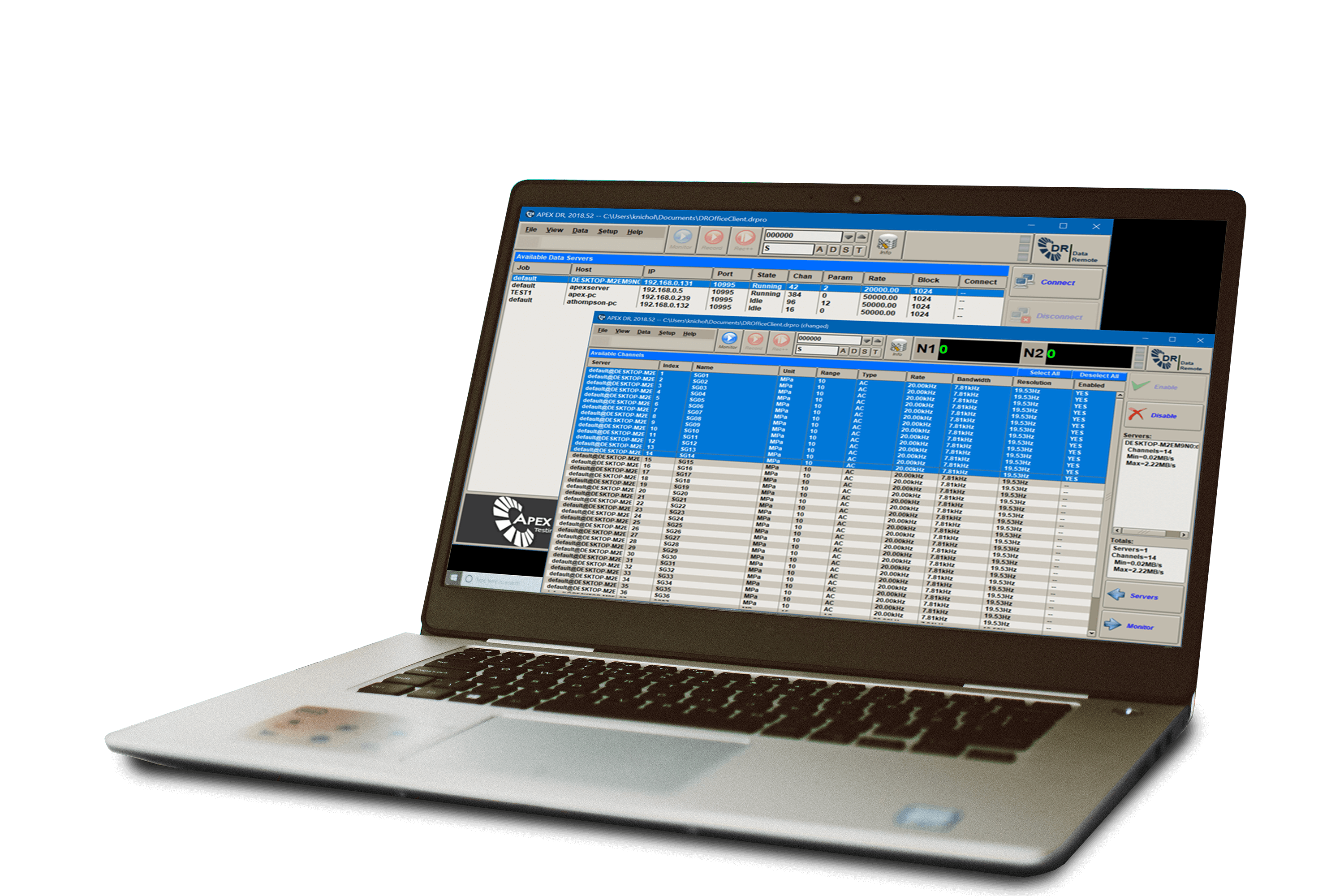 APEX DR Online Monitoring Software-Channel Subscription