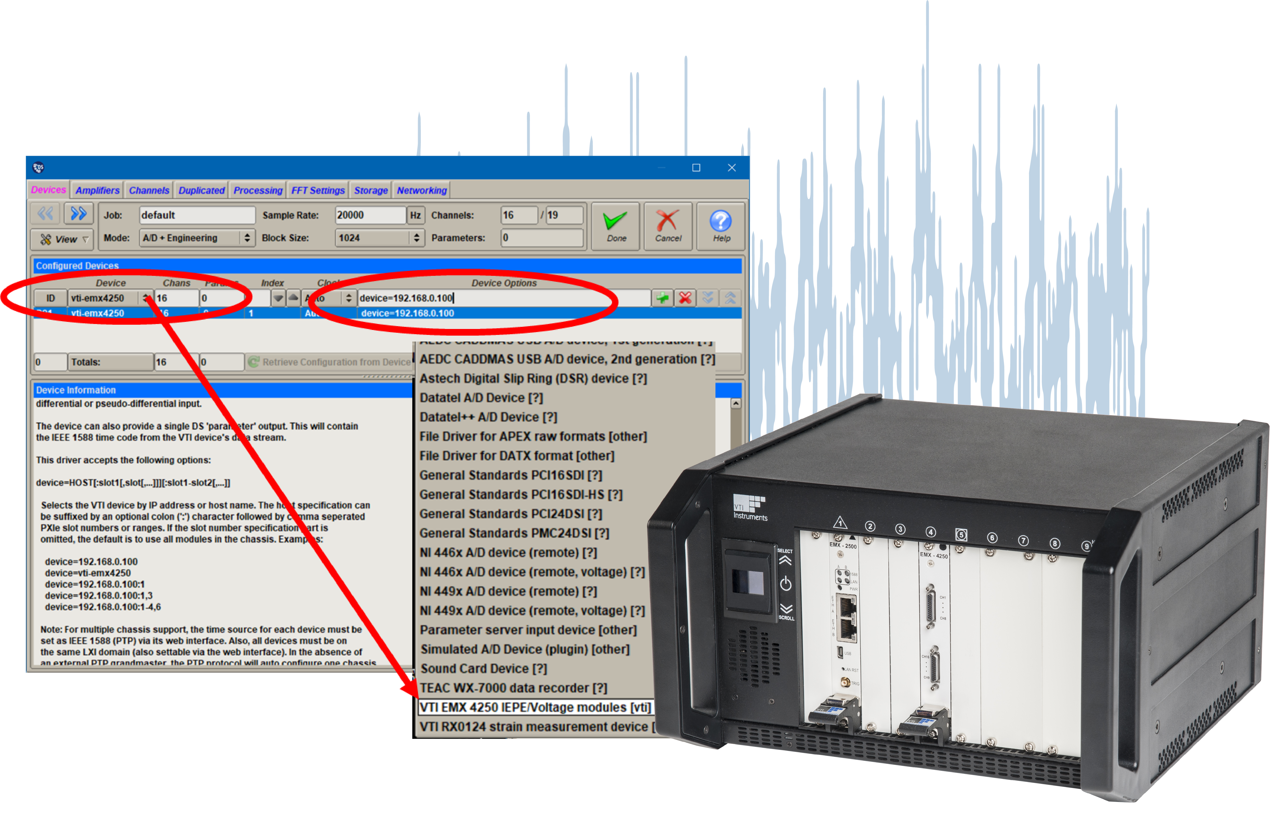 Data Acquisition with dynamically adapted hardware setups