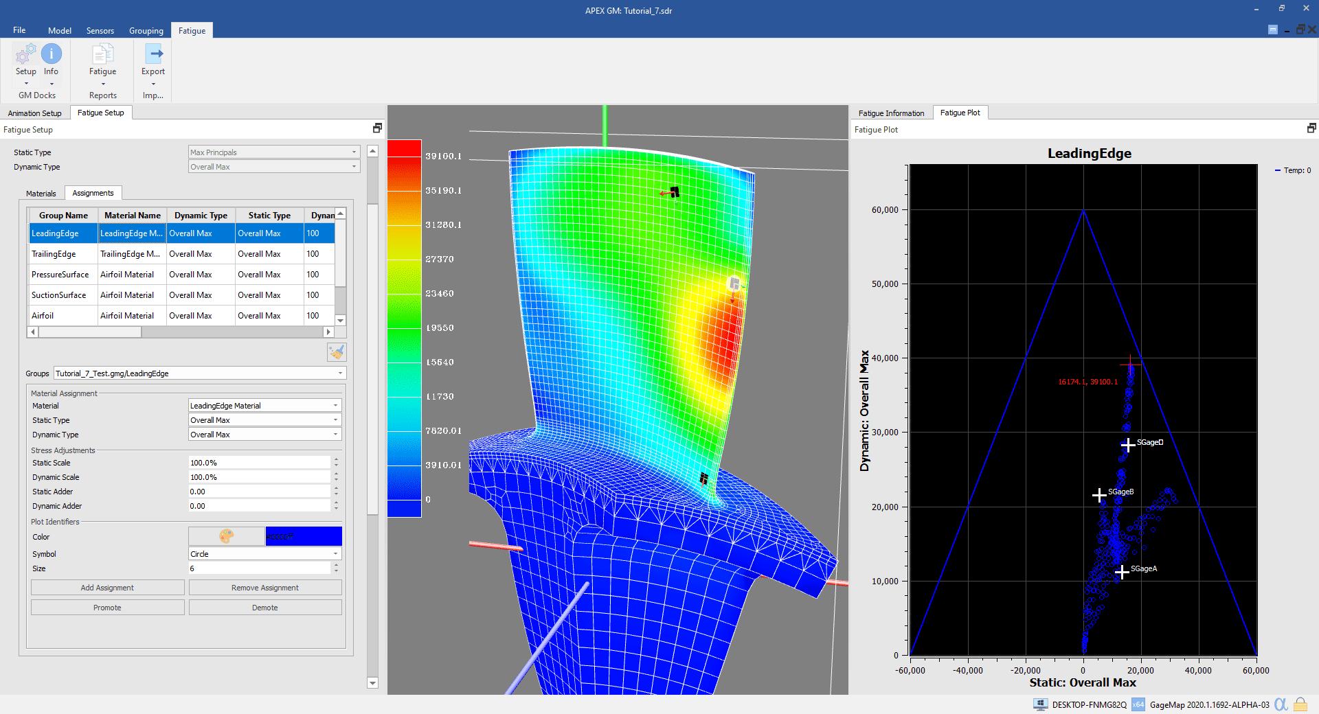 GageMap Sensor Placement-FEA Analysis-Mesh-Free