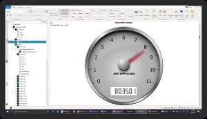 DX Plot Parameter Display Plot-Speedometer