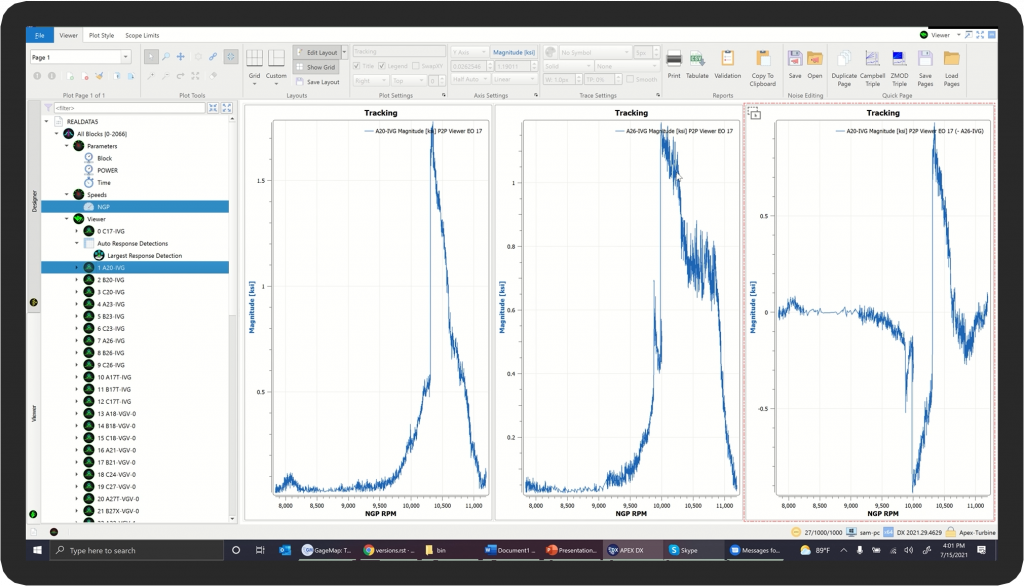 DX Offline Analysis Software-Tracking Plot Signal Subtraction